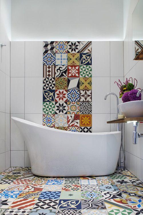 Moroccancementtiles Moroccan Tiles House - Ceramic tile that looks like cement tile