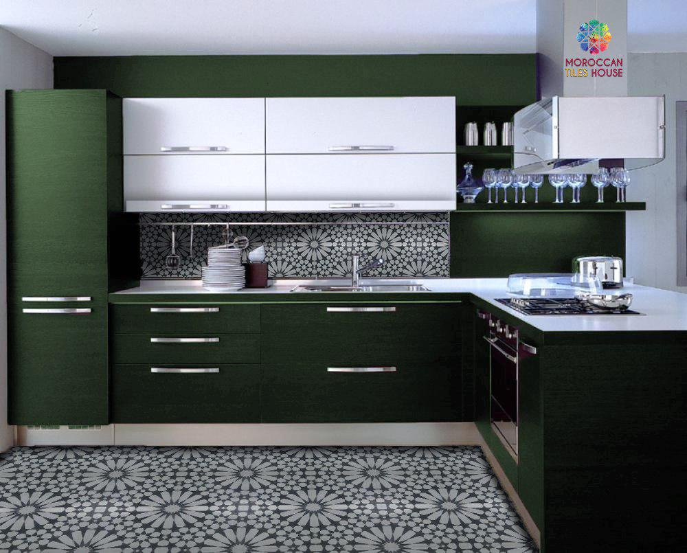 Modern Dark Green Kitchen